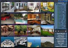 IP camera software which support 64 cameras.